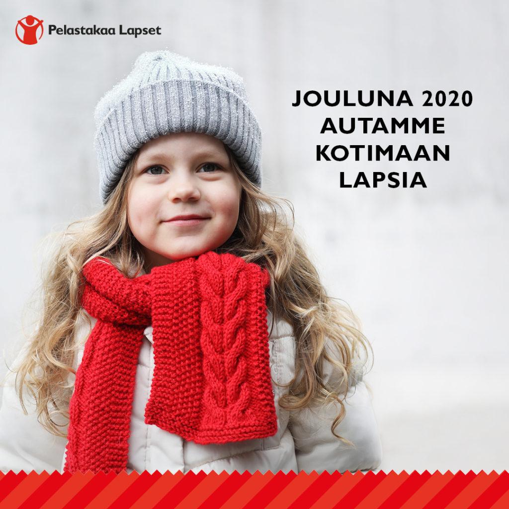 Jouluna 2020 autamme kotimaan lapsia