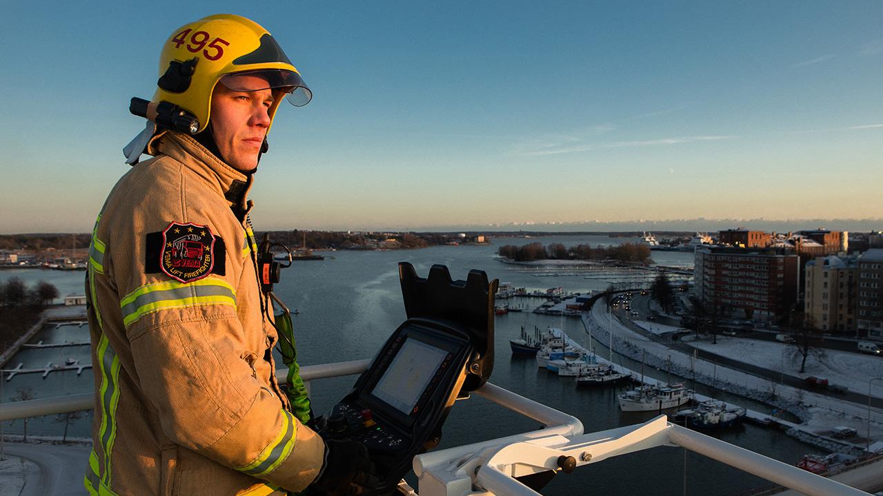 Helsingin kaupungin pelastuslaitoksen palomies