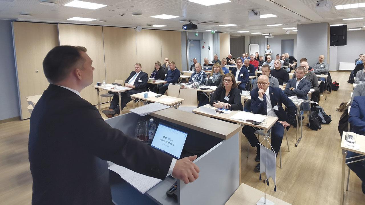 SPALin liittokokous 2019 Kotkassa.