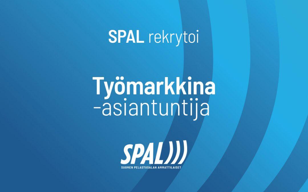 SPAL rekrytoi: Työmarkkina-asiantuntija